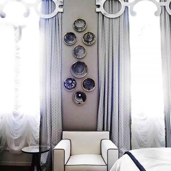 Peggy Guggenheim, importante mecenas já tema de post em Hardecor, batiza esta suíte. A casa onde Guggenheim morava em Veneza foi transformada em um belo museu, fica bem perto do Gritti e é visita obrigatória na cidade