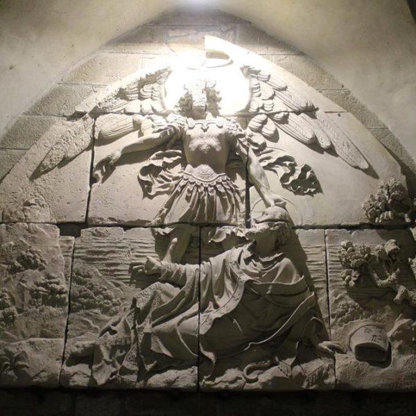 """""""Bas-relief"""" de 1860, assinada por Barrré"""