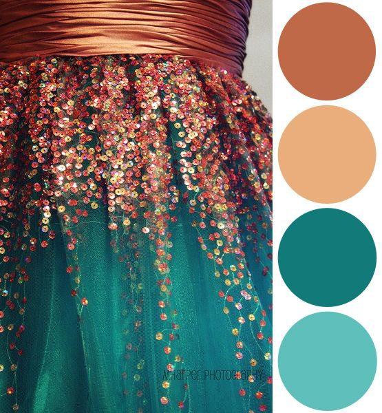 Veja como essas cores ficam bem juntas. Você fez uma ótima escolha