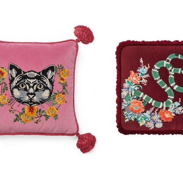 Almofadas padrão Gucci