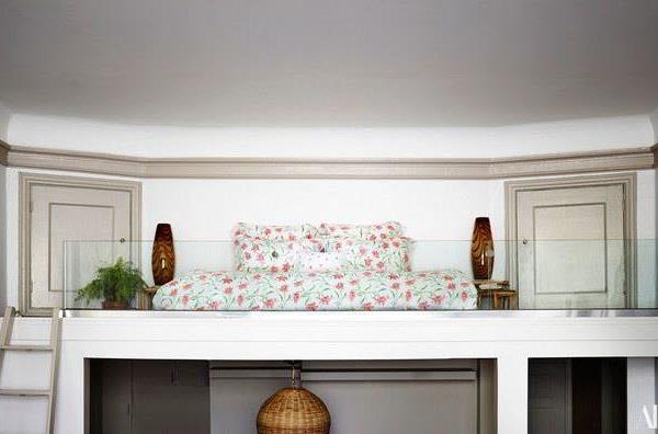 A cama no mezanino!!