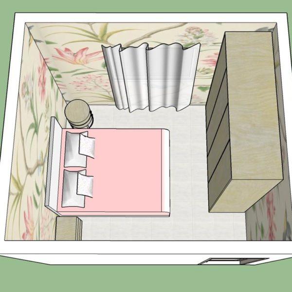 Uma cortina de tecido, obrigatoriamente até o piso, deixa o quarto romântico. Esse papel pode ser substituído por uma estampa feita com carimbos ou desenhos à mão, que você mesma pode fazer, ou ainda investir em uma outra padronagem de papel que combine mais com o perfil de vocês