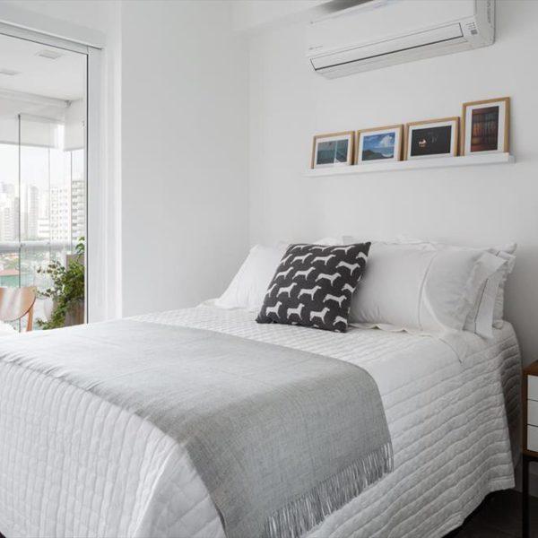 No quarto, conforto e elegância