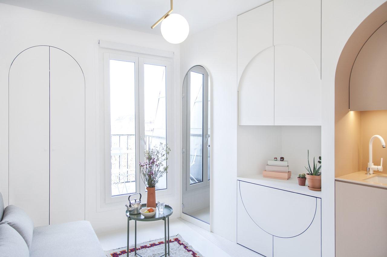 Estúdio para lá de charmoso de 11 m² em Paris