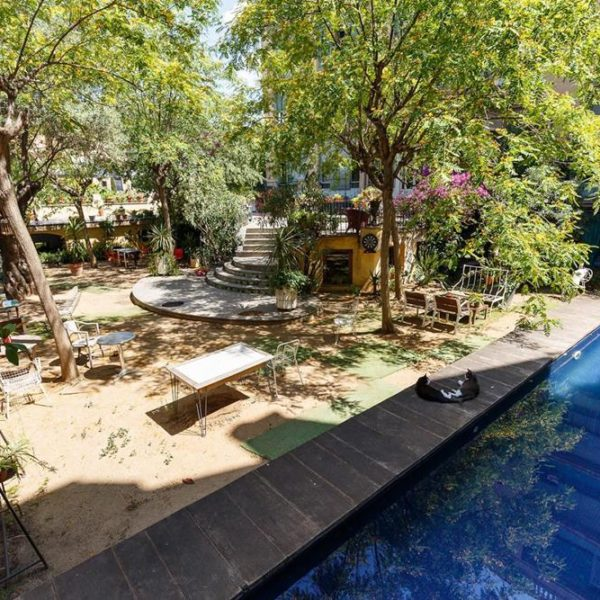A piscina!