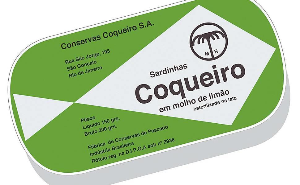 Alexandre Wollner assinou o logo, na época super moderno e bacana até hoje, das Sardinhas Coqueiro