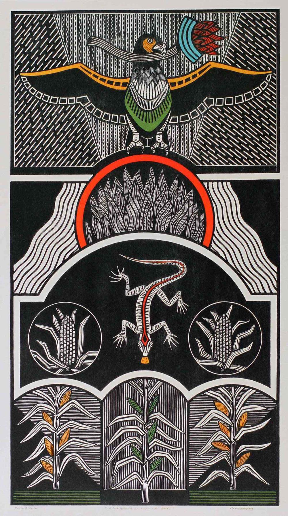 """Obra """"A conquista do fogo e do grão"""" de Gilvan Samico, na """"by Kamy"""""""