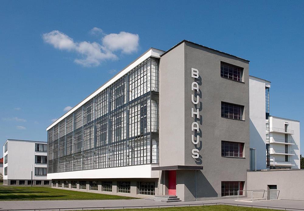 A fachada da Bauhaus