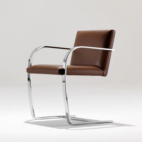 Brno Chair, também de Ludwig Mies van der Rohe
