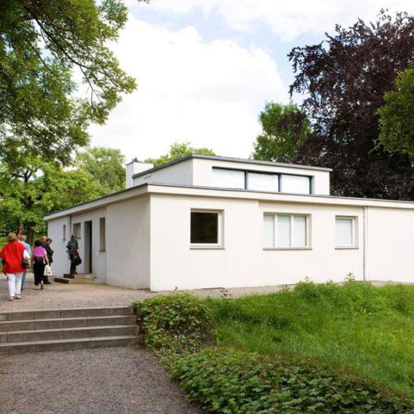 Uma das casas construídas na escola alemã