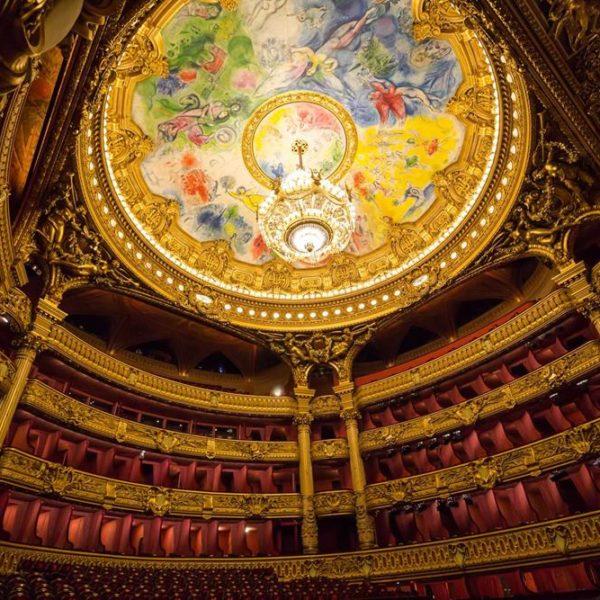 Teto do teatro, pintada por Marc Chagall