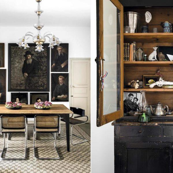 O preto é a cor da sala de jantar. Chique e descolada