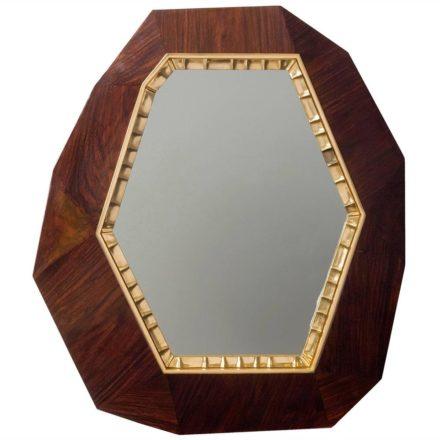 """""""Lucy"""", Oak and Bronze Wall Mirror, desenhado em 2014, por $35,000"""