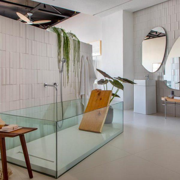 O banheiro mais do que lindo do Estúdio do Viajante