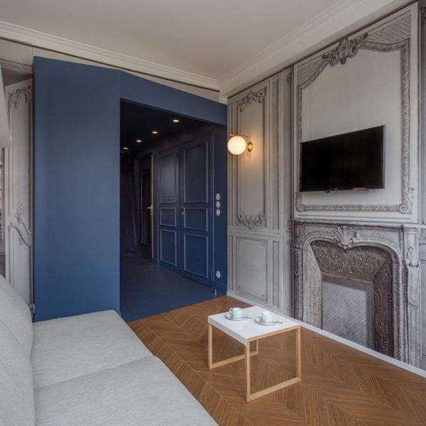 Pintar uma parte do ambiente, como se fosse um nicho, fica ótimo e delimita espaços de maneira fácil e bacana.