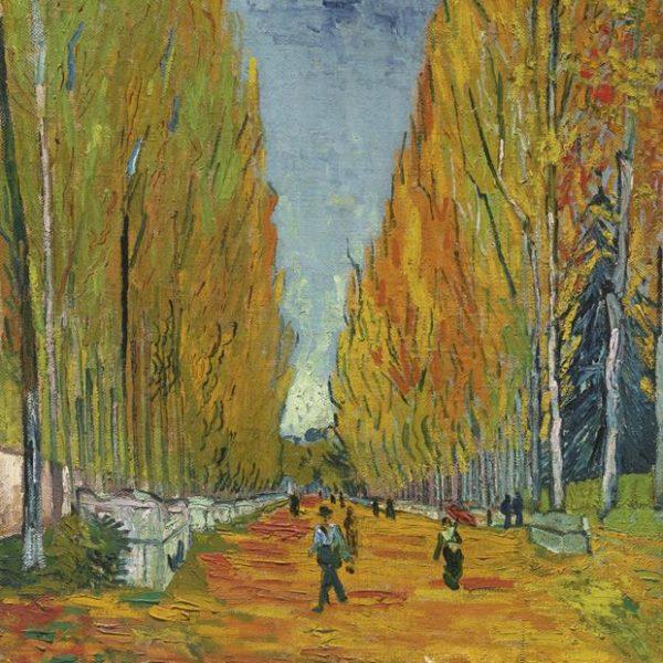 Também de 1888, a obra Les Alyscamps de Vincent van Gogh.