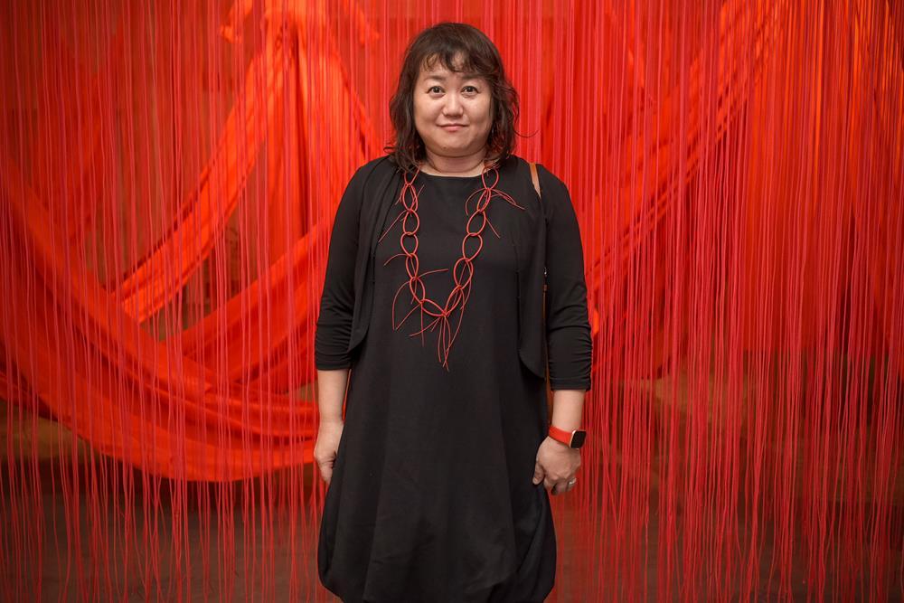 A artista Chiharu Shiota