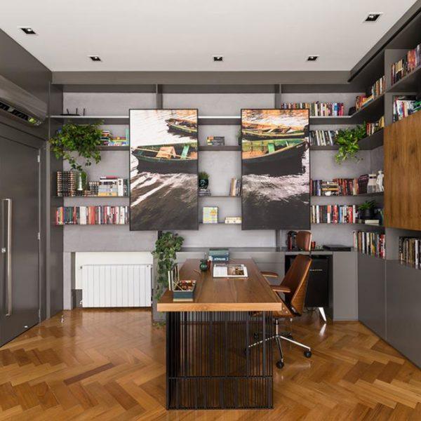 Outro espaço exclusivo para home office, projeto Greisse Panazzolo