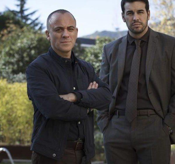Os atores Javier Gutiérrez e Mario Casas