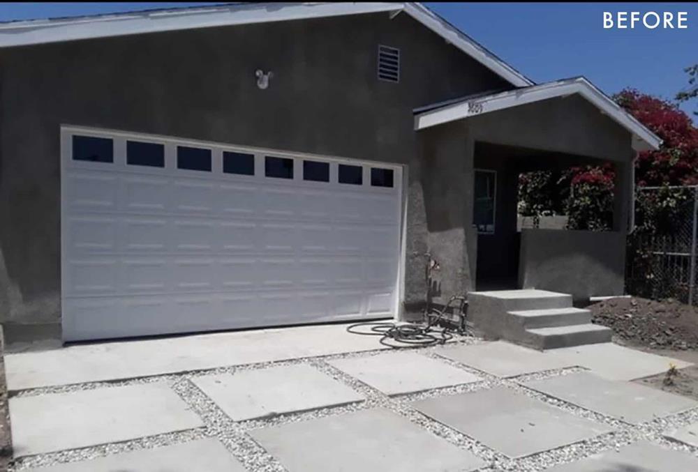 """Emily Henderson apresenta o """"antes"""" da transformação da garagem em quarto"""