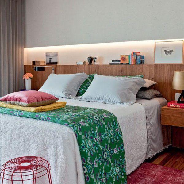Uma roupa de cama mais colorida faz a diferença, Marianne.