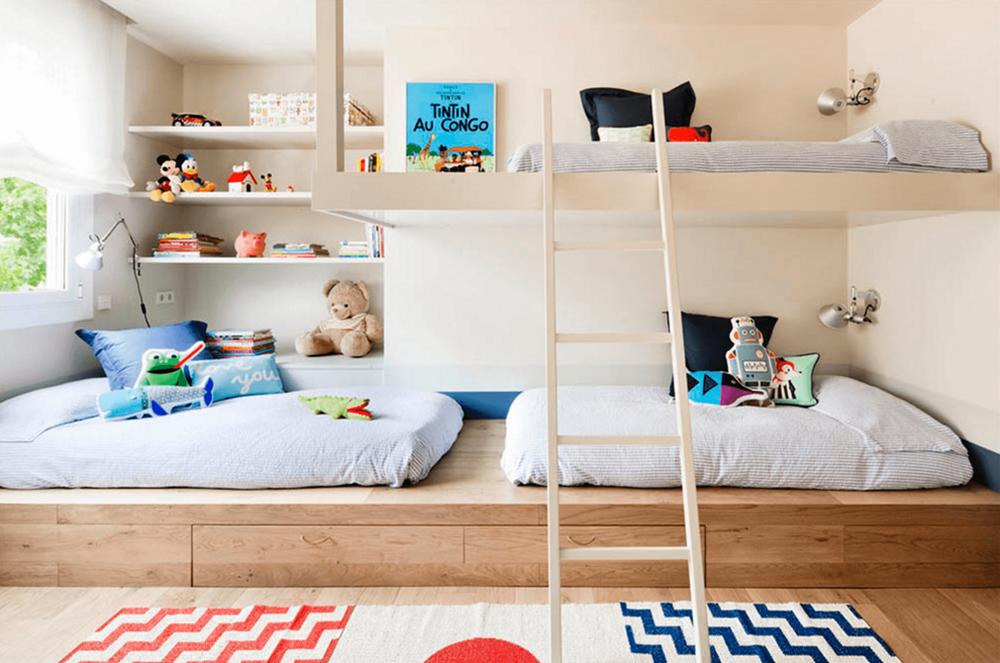 Você pode deixar a cama superior para um segundo momento